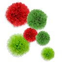 Aspire 36 Pcs Pom Poms, Tissue Paper Flower, Perfect For Christmas Decoration