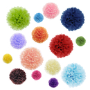 Aspire 60 Pcs Paper Pom Poms Tissue Flowers Mixed Colors Decoration Set Paper Flower Balls for Wedding Party