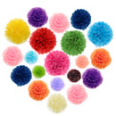 Aspire 30 Pcs Mixed Tissue Paper Pom Poms Wedding Party Outdoor Decoration Tissue Paper Craft Kit