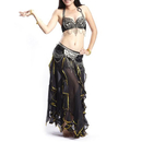 Wholesale BellyLady Gypsy Black Belly Dance Costume, Tribal Bra and Lotus Leaf Skirt Set