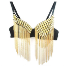 TopTie Punk Spike Bra / Fringe Top For Belly DancE