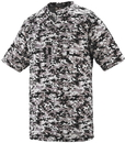 Augusta Sportswear 1556 Youth Digi Camo Wicking Two-Button Jersey