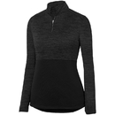 Augusta Sportswear 2909 Ladies Shadow Tonal Heather 1/4 Zip Pullover