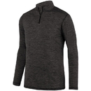Augusta Sportswear 2955 Intensify Black Heather 1/4 Zip Pullover