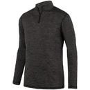 Augusta Sportswear 2955 Intensify Black Heather 1/4 Zip Pullover