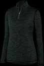 Augusta Sportswear 2957 Ladies Intensify Black Heather 1/4 Zip Pullover