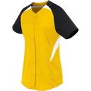 High Five 312173 Girls Galaxy Full Button Jersey