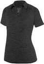 Augusta Sportswear 5409 Ladies Intensify Black Heather Polo