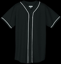 Augusta Sportswear 593 Wicking Mesh Button Front Jersey With Braid Trim