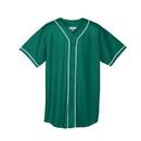 Augusta Sportswear 593 Wicking Mesh Button Front Jersey With Braid Trim