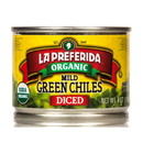 La Preferida Diced Green Chiles, Mild, Organic