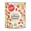 Natural Value Kidney Beans, Dark Red, (BIG Can), Organic - 2 x 108 oz