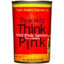 Pure Alaska Think Pink, Wild Pink Salmon, Big Can - 8 x 14.75 oz
