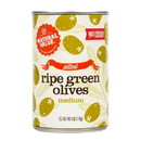 Natural Value Green Olives, Pitted, Natural - 3 x 6 oz