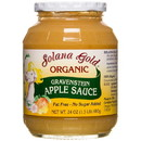 Solana Gold Organics Gravenstein Apple Sauce in Glass, Organic - 24 oz