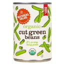 Natural Value Green Beans, Straight Cut, Organic - 14.5 oz