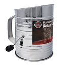 Norpro Rotary Sifter, 5 cups, Stainless Steel