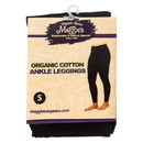 Maggie's Organics Leggings, Ankle, Black, Small, Organic - 1 unit