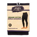 Maggie's Organics Leggings, Ankle, Black, Medium, Organic - 1 unit