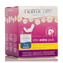 Natracare Ultra Extra Pads, Long with wings - 6 x 8 ct