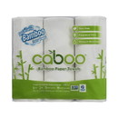 Caboo Paper Towels, Bamboo & Sugar Cane, 2 ply, White - 2 x 6 rolls