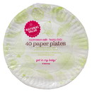 Natural Value Plates, Heavy Duty Paper 9 inch, Recycled - 40 ct