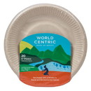 World Centric Plates, Compostable, Ripple Edge, 6 in - 20 ct