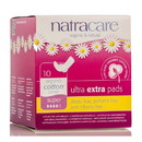Natracare Ultra Extra Pads, Super with wings - 10 ct