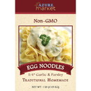 Azure Market Traditional Homemade Egg Noodles, Medium 1/4 inch, Garlic & Parsley