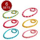 TopTie Beads Jewelry Set For Child, Kid's Jewelry Necklace & Bracelet, 6 Sets
