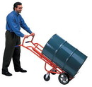 Basco Ergonomic Drum Truck Moldon Rubber Wheels Swivel Casters