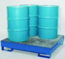 Basco All Steel Spill Containment Pallet Holds 4 Drums