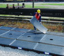 Basco Ultra TrackPans® for Railcar Spill Containment With Grates And Covers