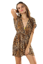 TopTie V Neck Beach Dresses Animal Printed / Colorful Printed