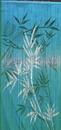 Bamboo54 5279 Blue Bamboo Scene Curtain