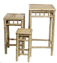 Bamboo54 5457 Bamboo 3 piece square nesting stool