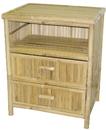 Bamboo54 5478 Bamboo table / night stand with 2 drawers