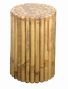 Bamboo54 Rustic Round Bamboo Side Table / Stool