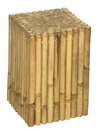 Bamboo54 Rustic Square Bamboo Side Table / Stool