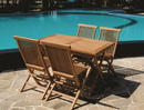 Bamboo54 TF2 4 Folding Teak Chair and 1 Rectangular Table