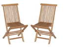 Bamboo54 TF8 Set of 2 Teak Folding Chairs