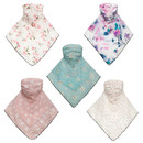TOPTIE Women's Face Cover, Floral Chiffon Neck Scarf with Ear Loops for Sunlight Avoidance & Dust Proof
