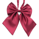 TOPTIE Adjustable Solid Color Bow Tie, Pre-Tied Uniform Necktie For Girls