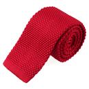 TOPTIE Men's Skinny Square Bottom Knit Tie, Adult Solid Color Tie