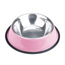 Brybelly 16oz. Pink Stainless Steel Dog Bowl