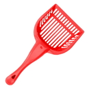 Brybelly Red Cat Litter Scoop with Reinforced Comfort Handle