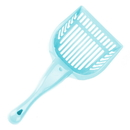 Brybelly Turquoise Cat Litter Scoop with Reinforced Comfort Handle