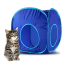 Brybelly Blue Pop-Up Cat Play Cube with Storage Bag