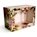 Brybelly Don Ed Hardy Beautiful Ghost Martini Set of 2 - 6 oz Glasses