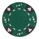 Brybelly Roll of 25 - Green - Ace King Suited 14 Gram Poker Chips